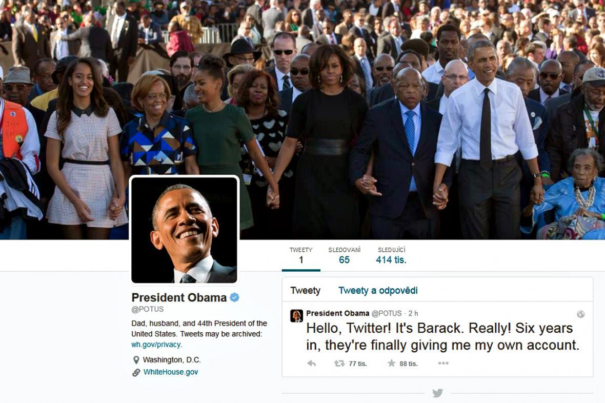 Obama má konečně prezidentský účet na Twitteru