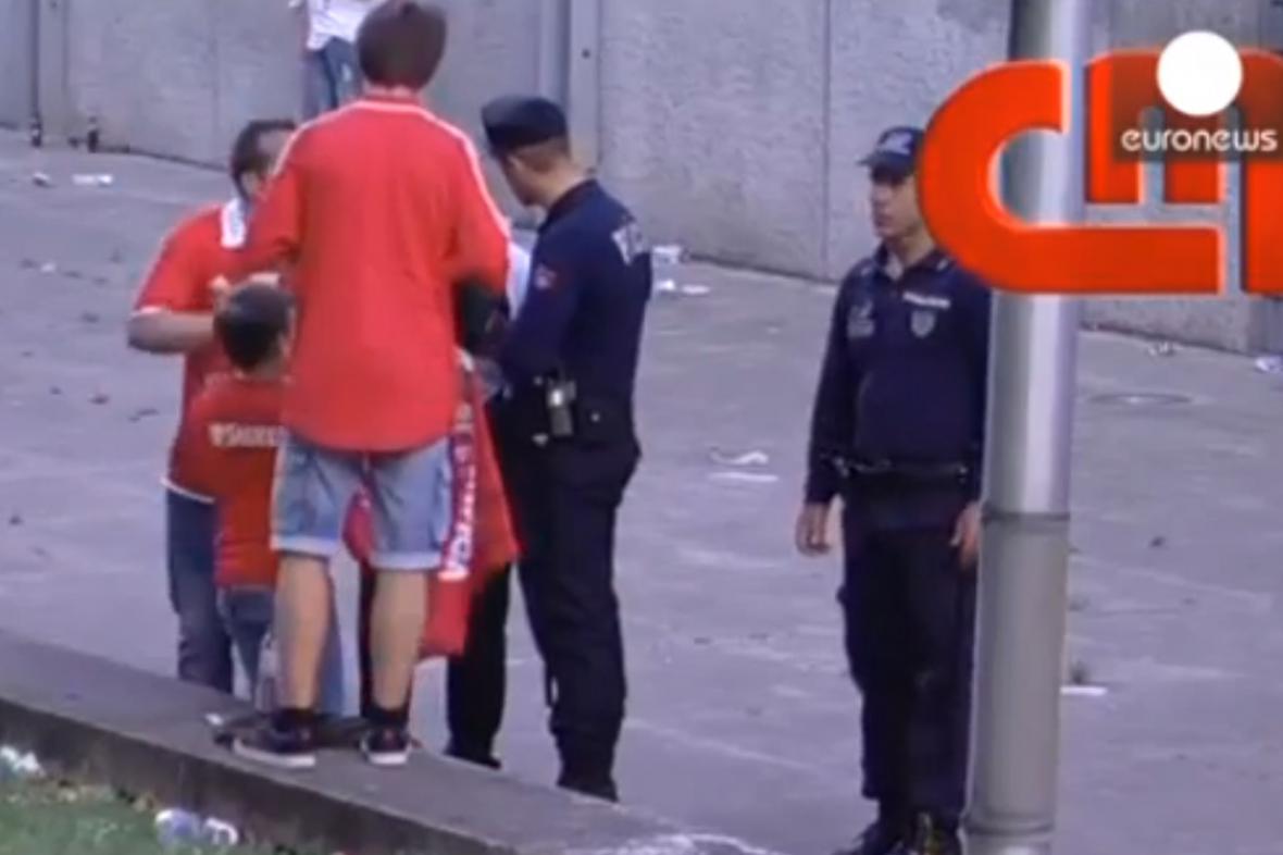 Incident po fotbalovém zápase v Portugalsku