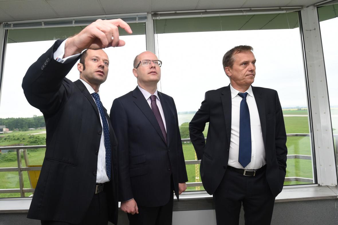 Pavel Beran, Bohuslav Sobotka a Jiří Rozbořil