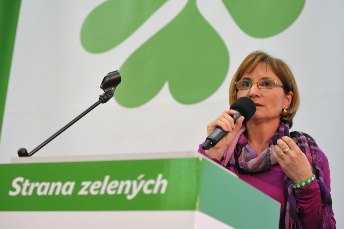 Předsedkyně Strany zelených Jana Drápalová