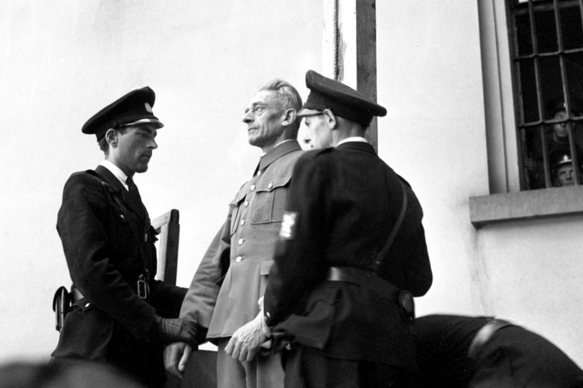 K. H. Frank před popravou (květen 1946)