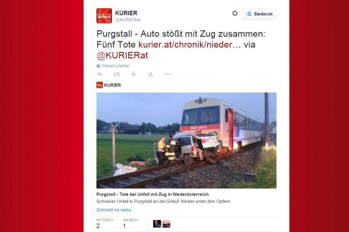 Rakousko: Srážka vlaku s osobním vozem
