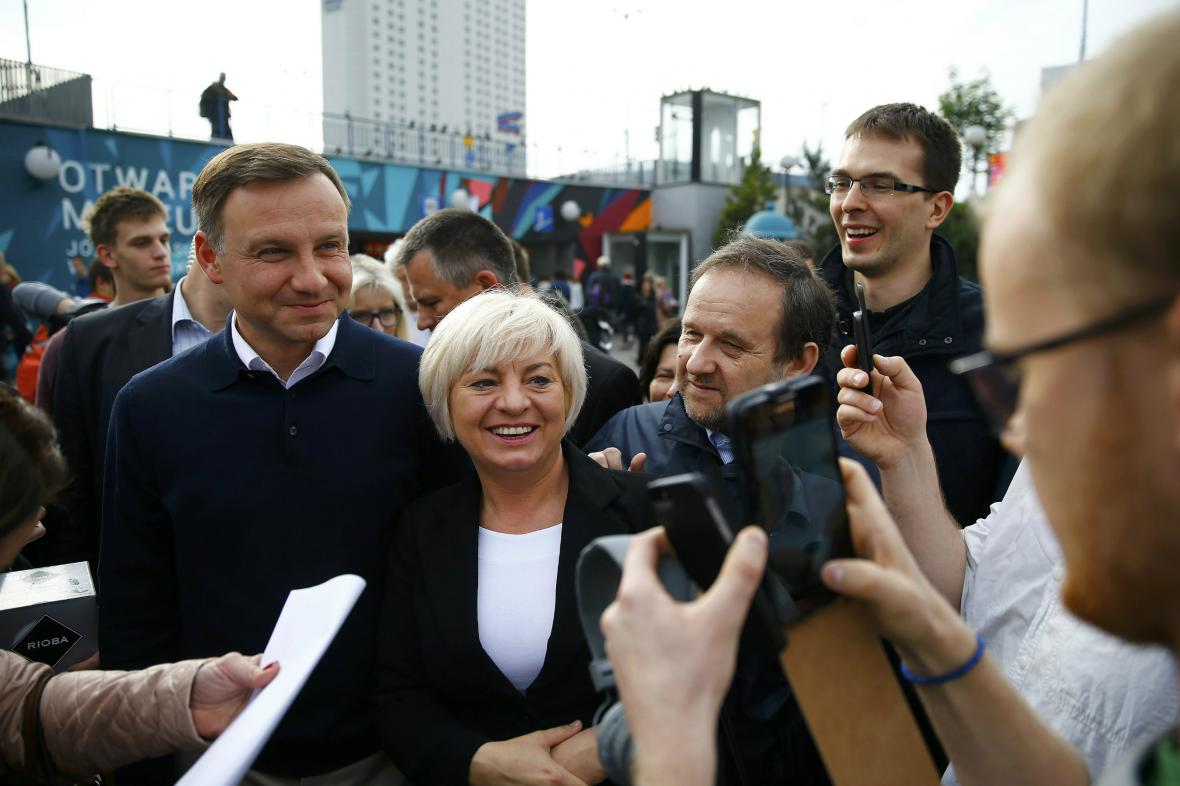 Duda přišel osobně poděkovat Polákům za zvolení