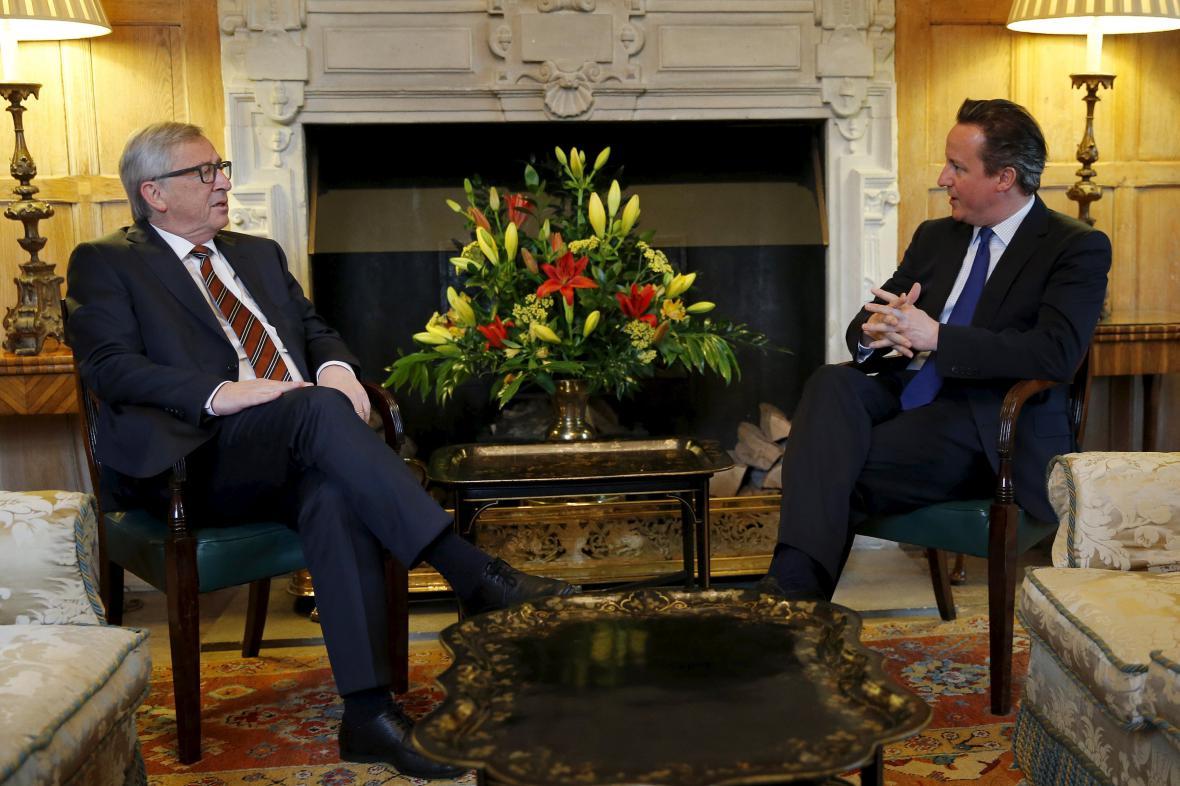 Jean-Claude Juncker a David Cameron