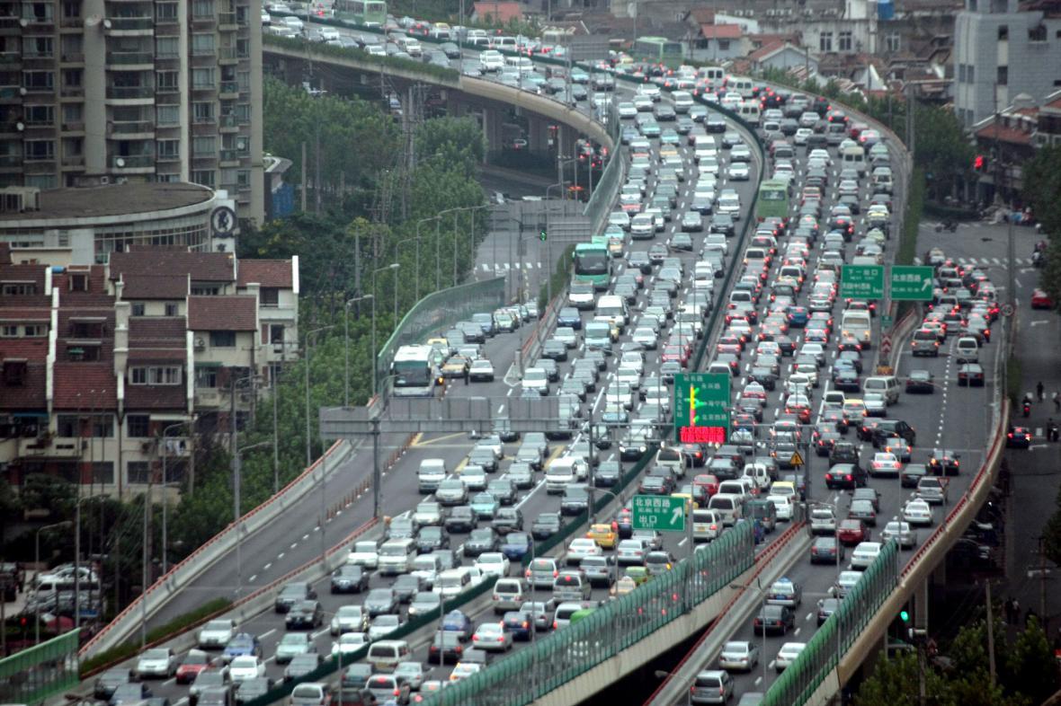 Dopravní zácpa v Číně
