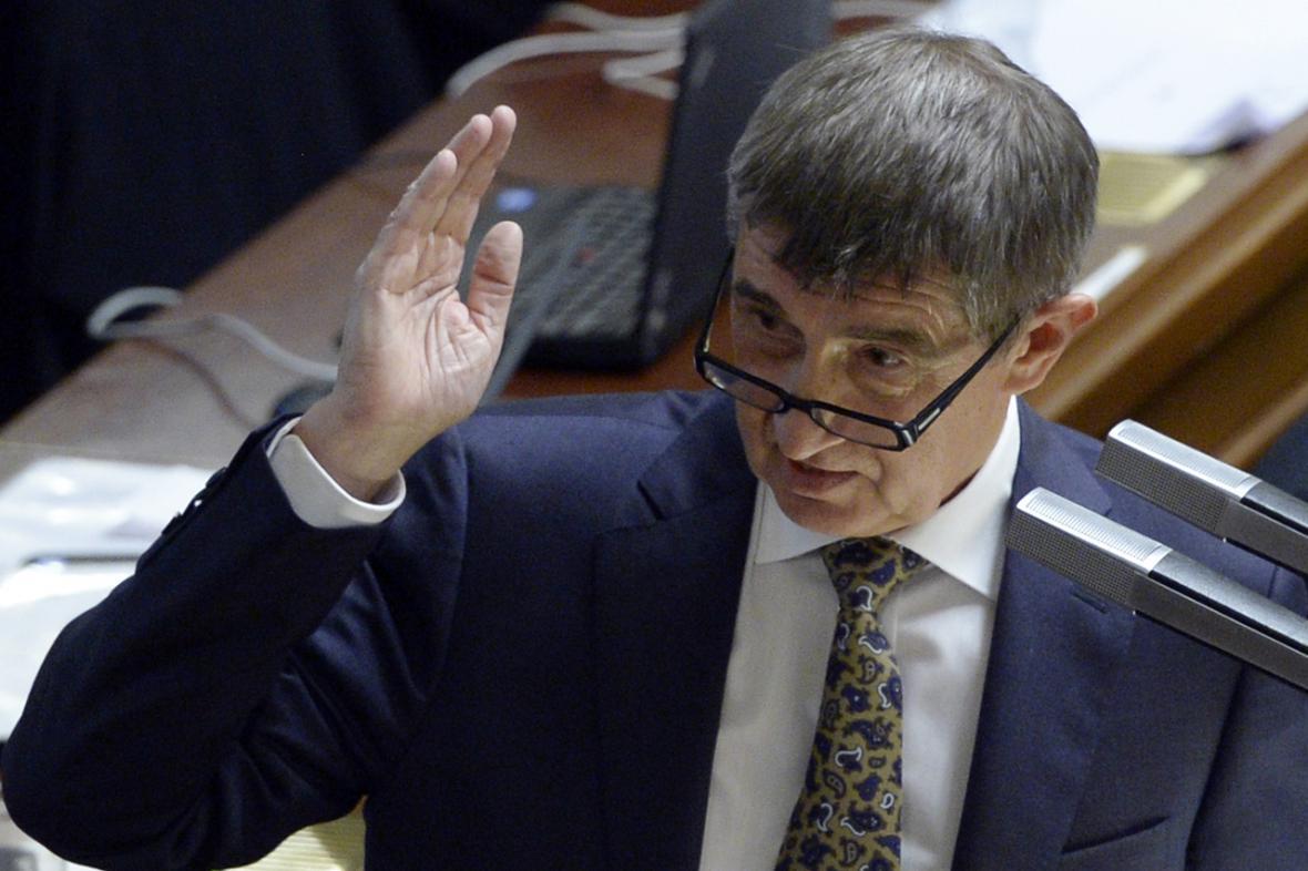 Andrej Babiš (ANO) ve sněmovně