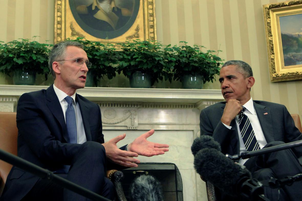 Jens Stoltenberg a Barack Obama
