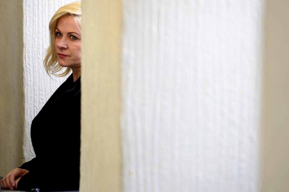 Jana Nečasová u soudu