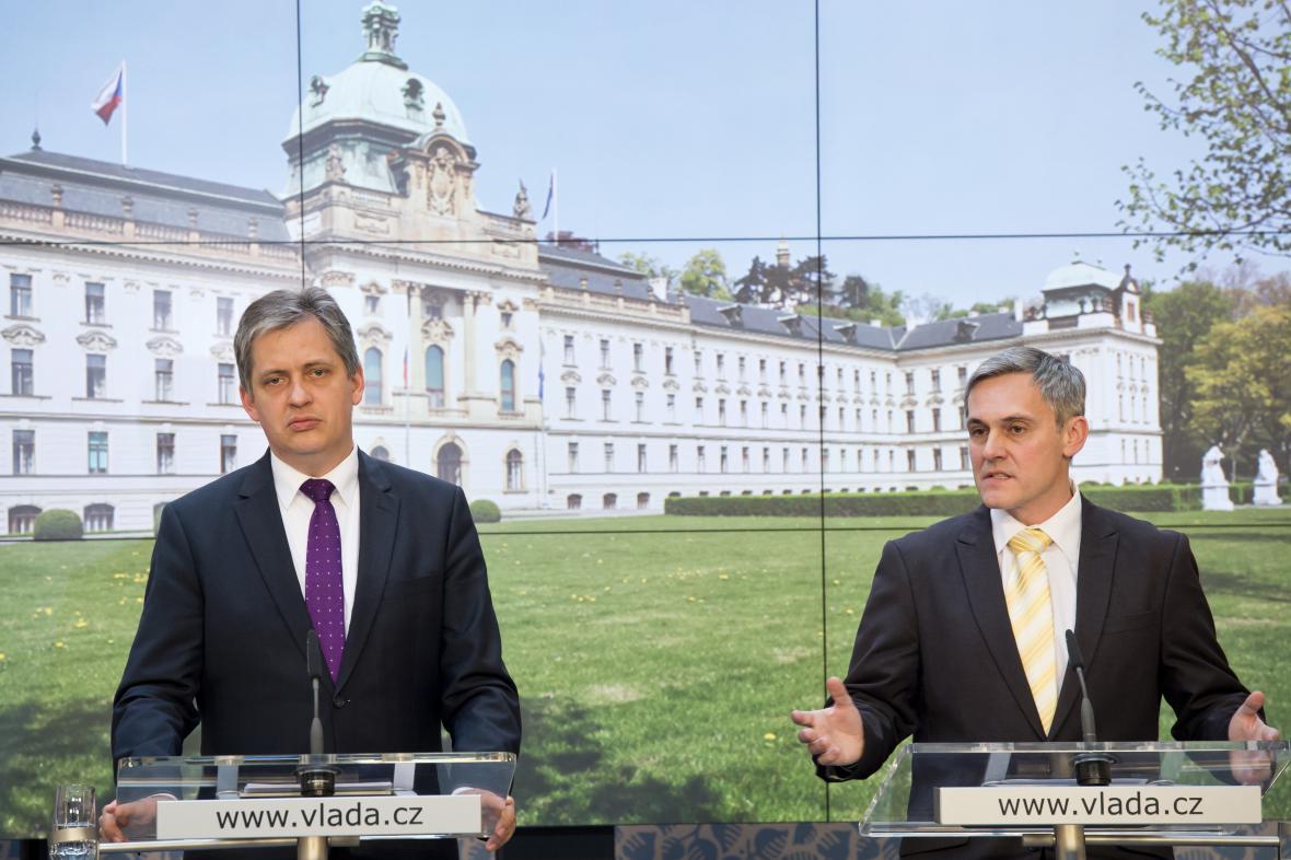 Jiří Dienstbier a Radek Jiránek