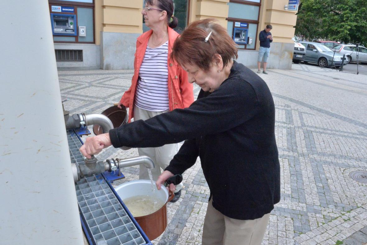 Cisterna s pitnou vodou v Dejvicích
