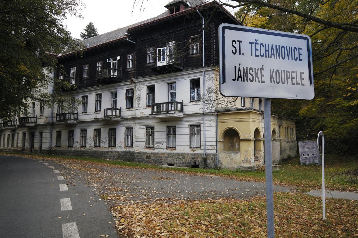Bývalé lázně Jánské Koupele na Opavsku