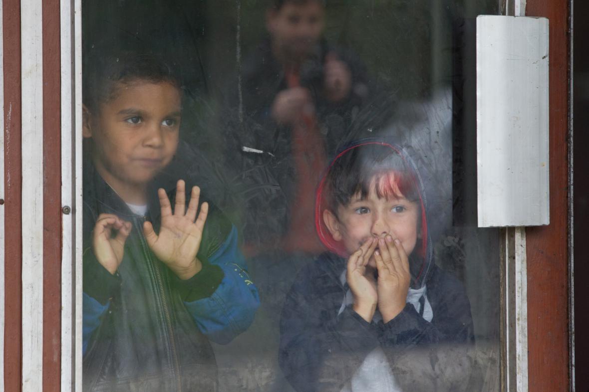 Děti v ubytovně