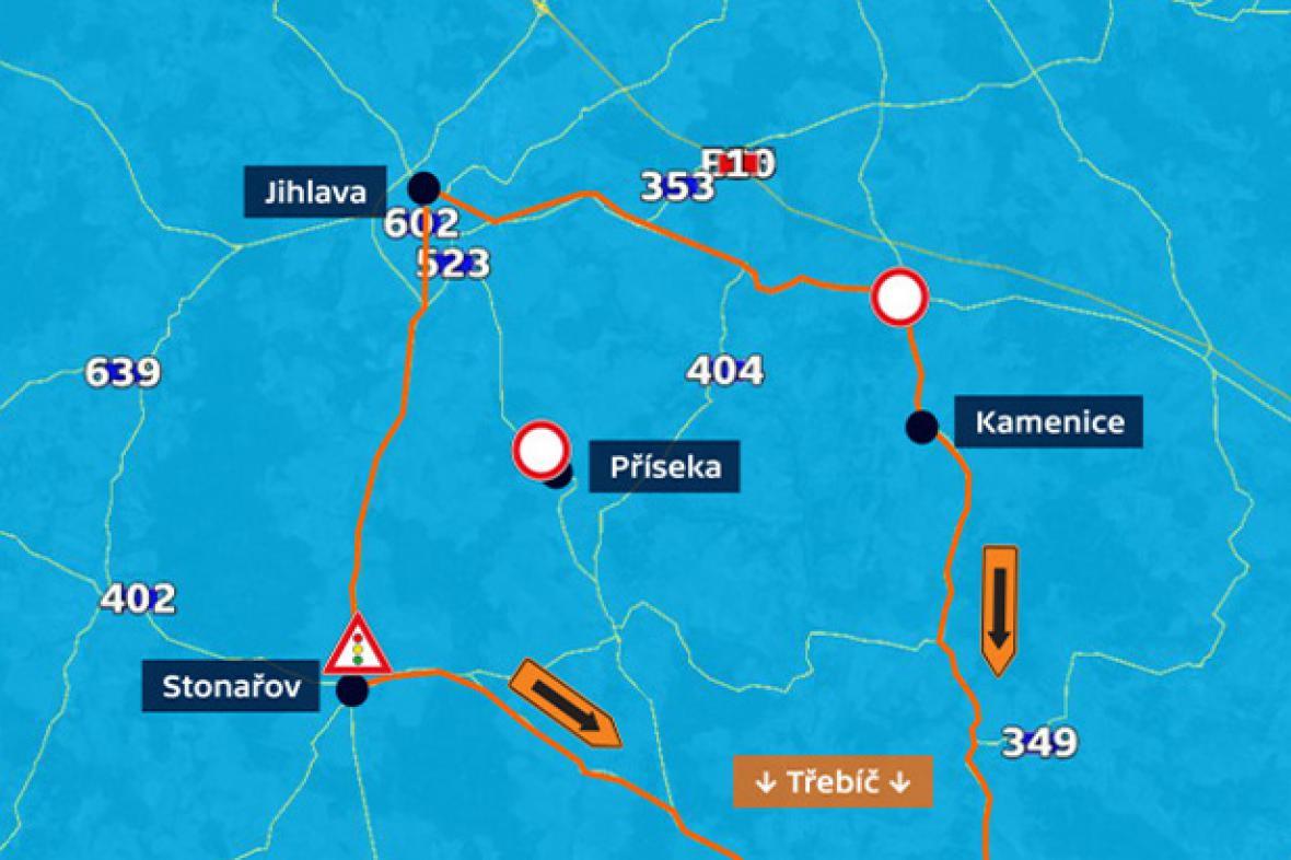 Grafika Objížďka Vysočina