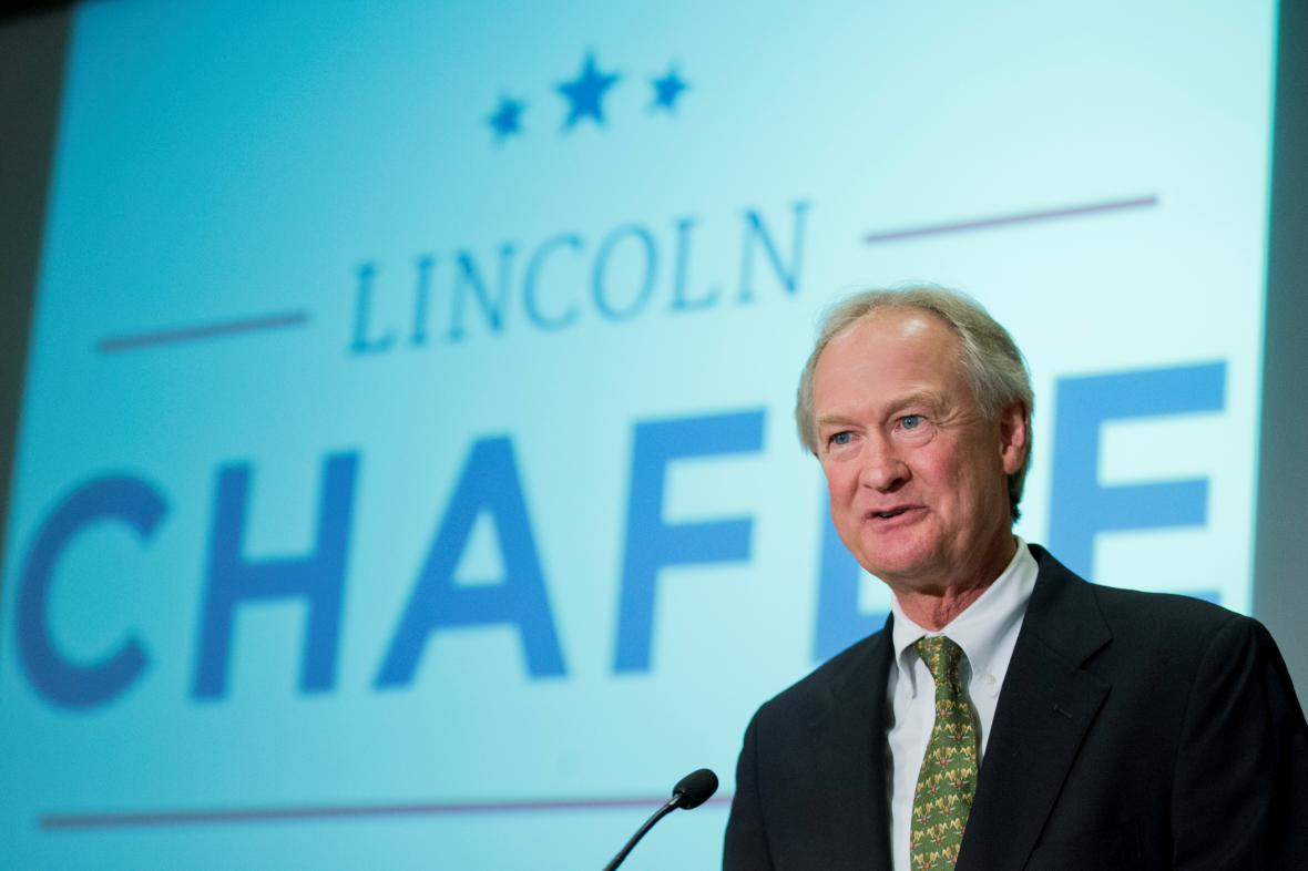 Demokratický kandidát na prezidenta Lincoln Chafee