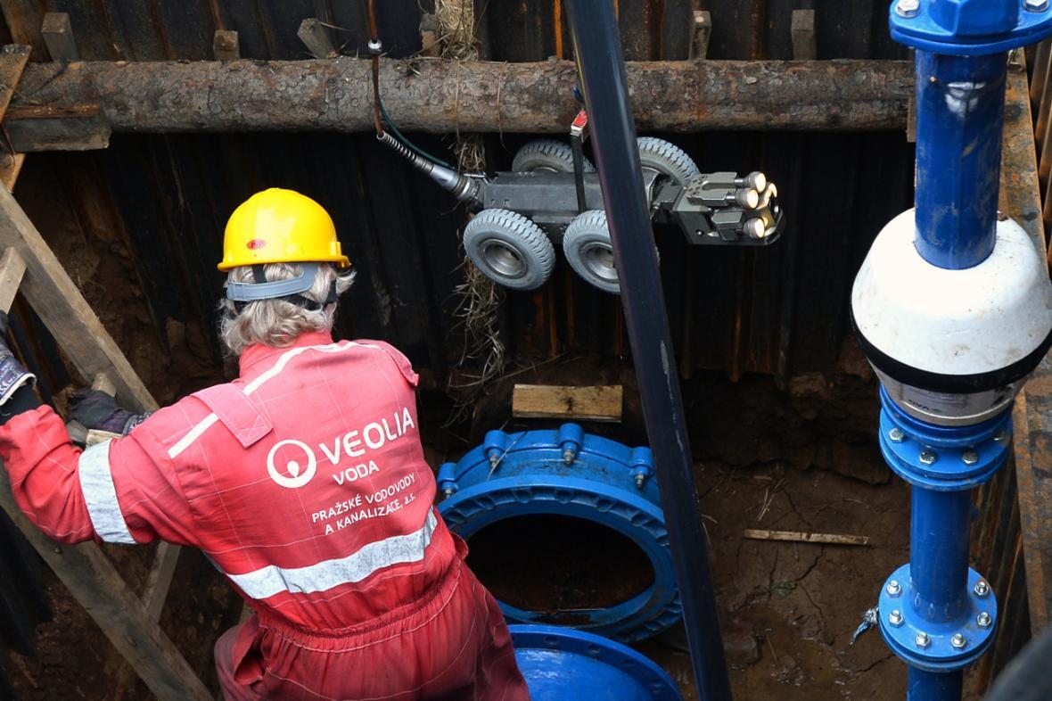 Kontrola vodovodního potrubí