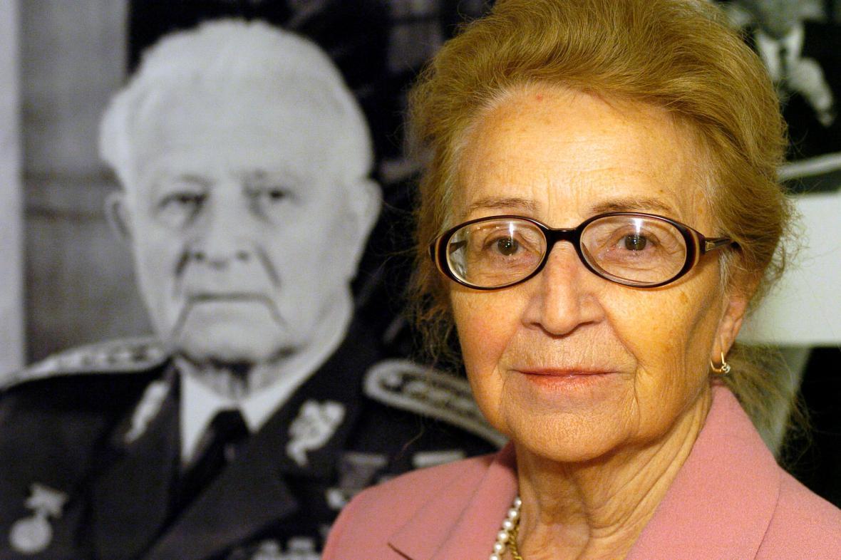 Dcera prezidenta Ludvíka Svobody Zoe Klusáková-Svobodová