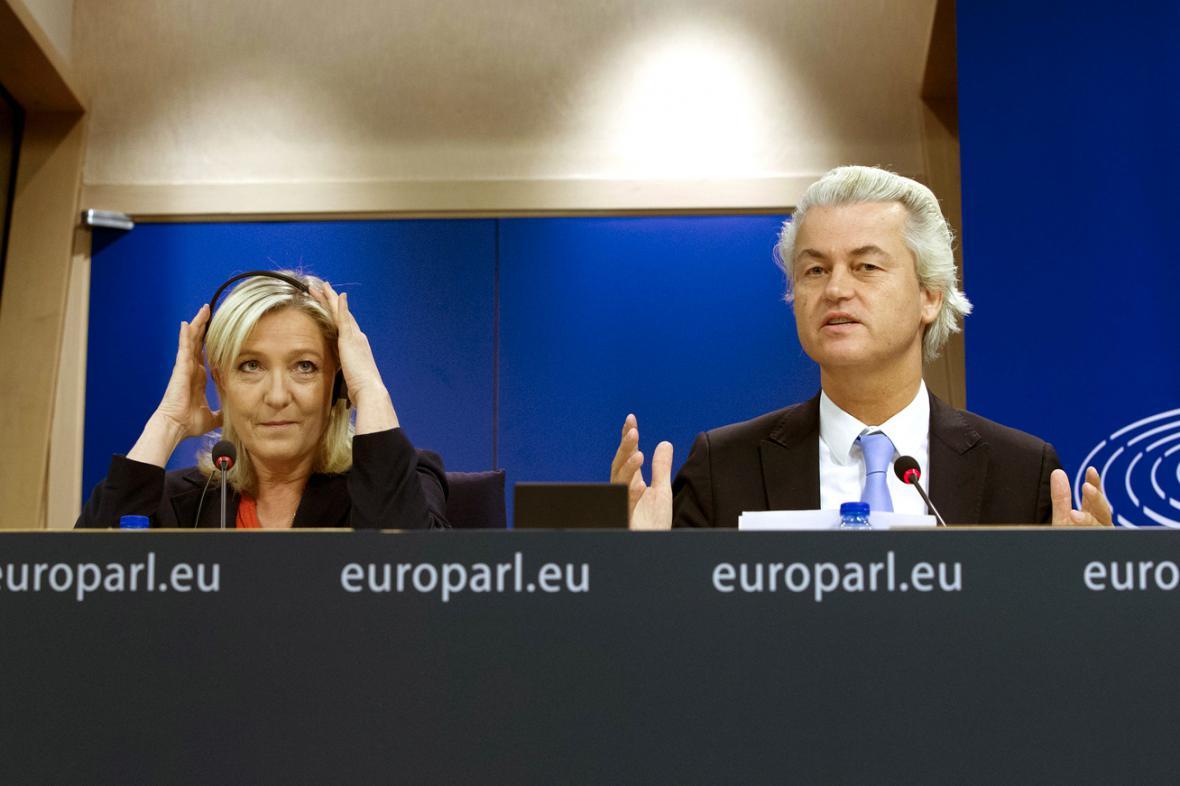 Marine Le Penová a Geert Wilders