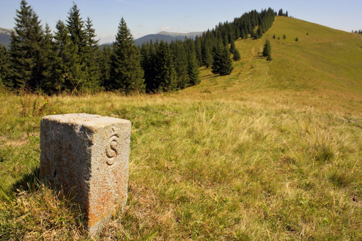 Bývalá hranice Československa na Zakarpatsku