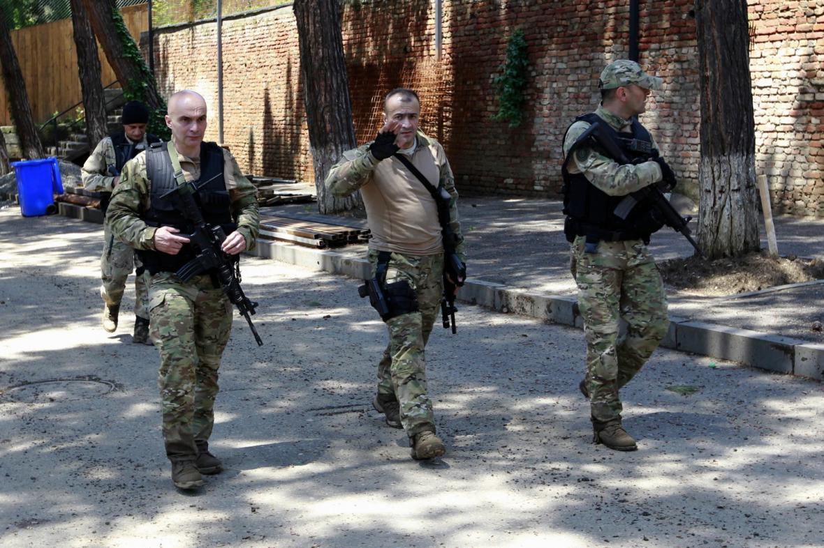 Policie v Tbilisi