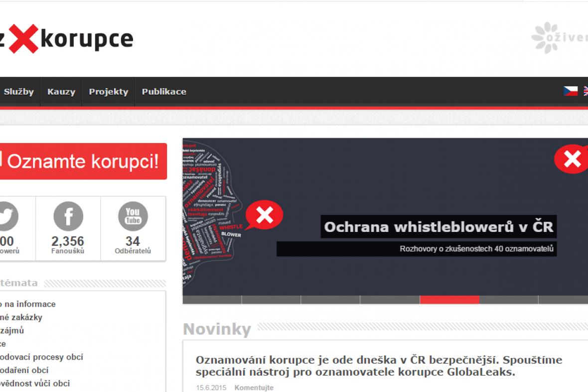 Webové stránky bezkorupce.cz