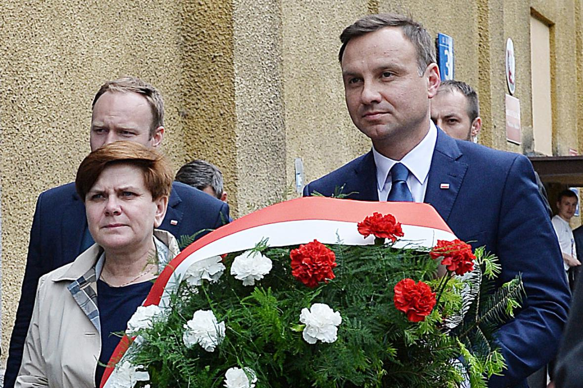 Polský prezident s budoucí premiérkou? Beata Szydlová a Andrzej Duda