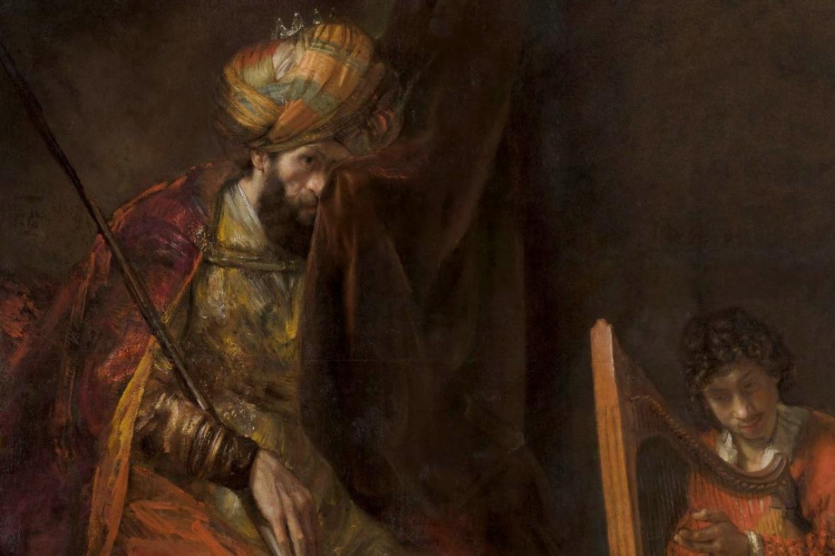 Rembrandt van Rijn - David a Saul