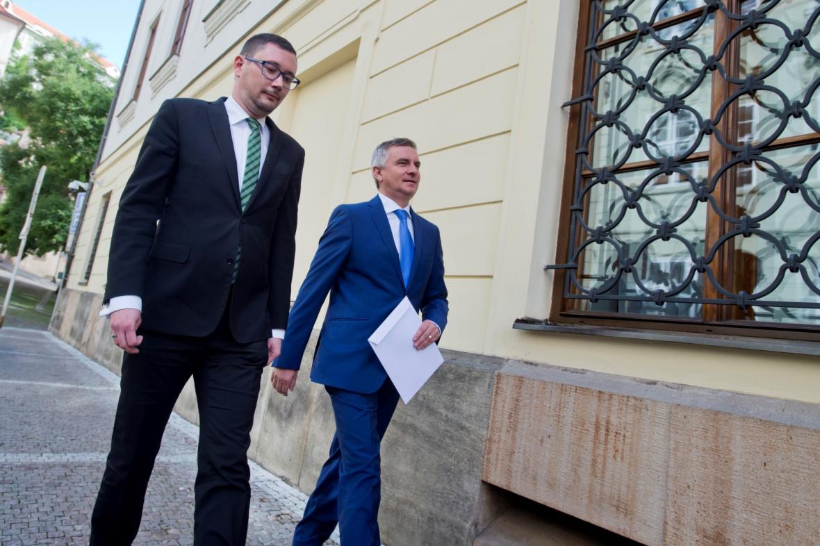 Jiří Ovčáček a Vratislav Mynář