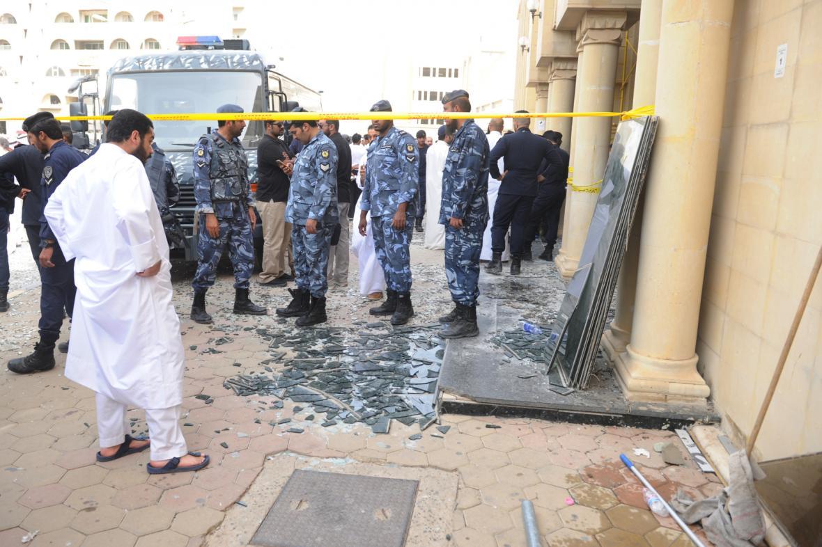 Místo atentátu v kuvajtské metropoli