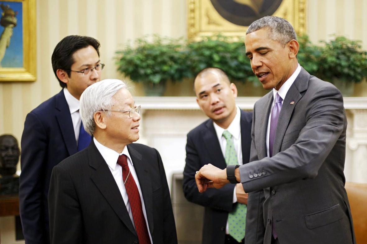 Nguyen Phu Trong a Barrack Obama