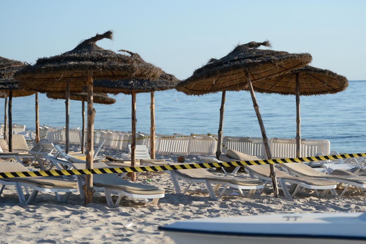 Pláž v rezortu Sousse