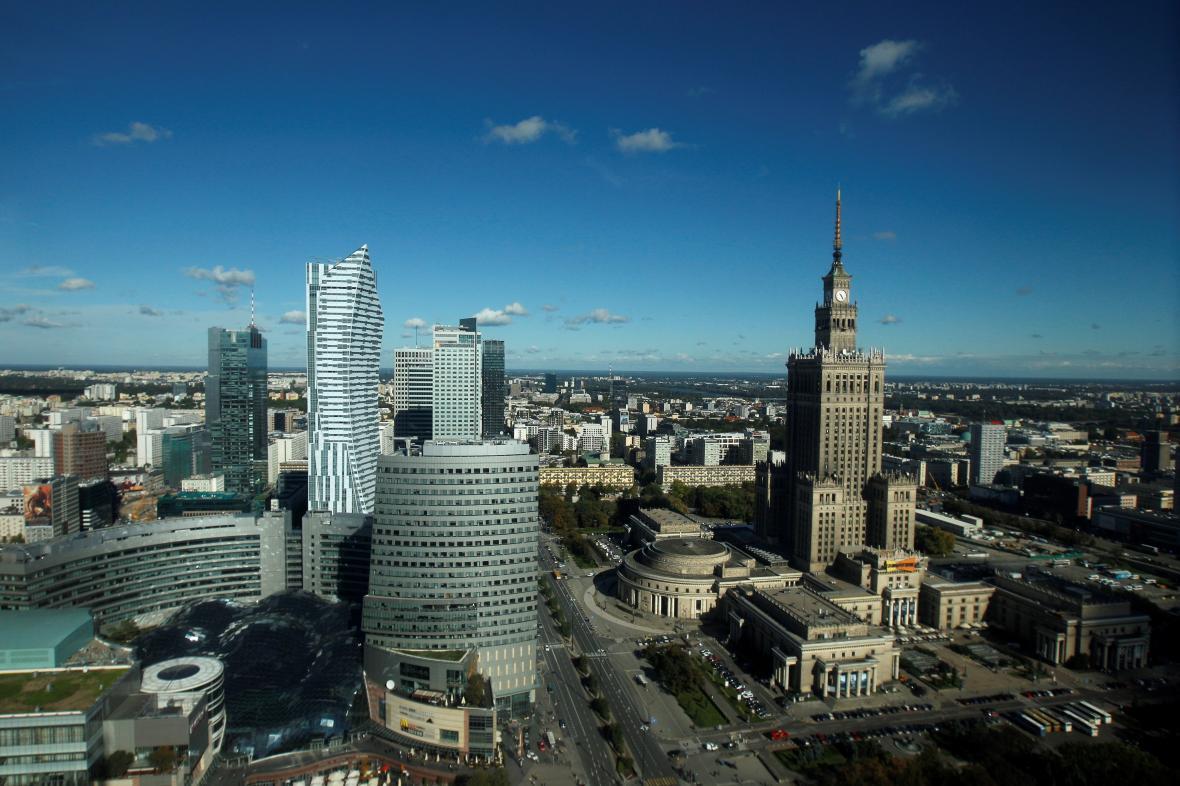 Pohled na centrum Varšavy