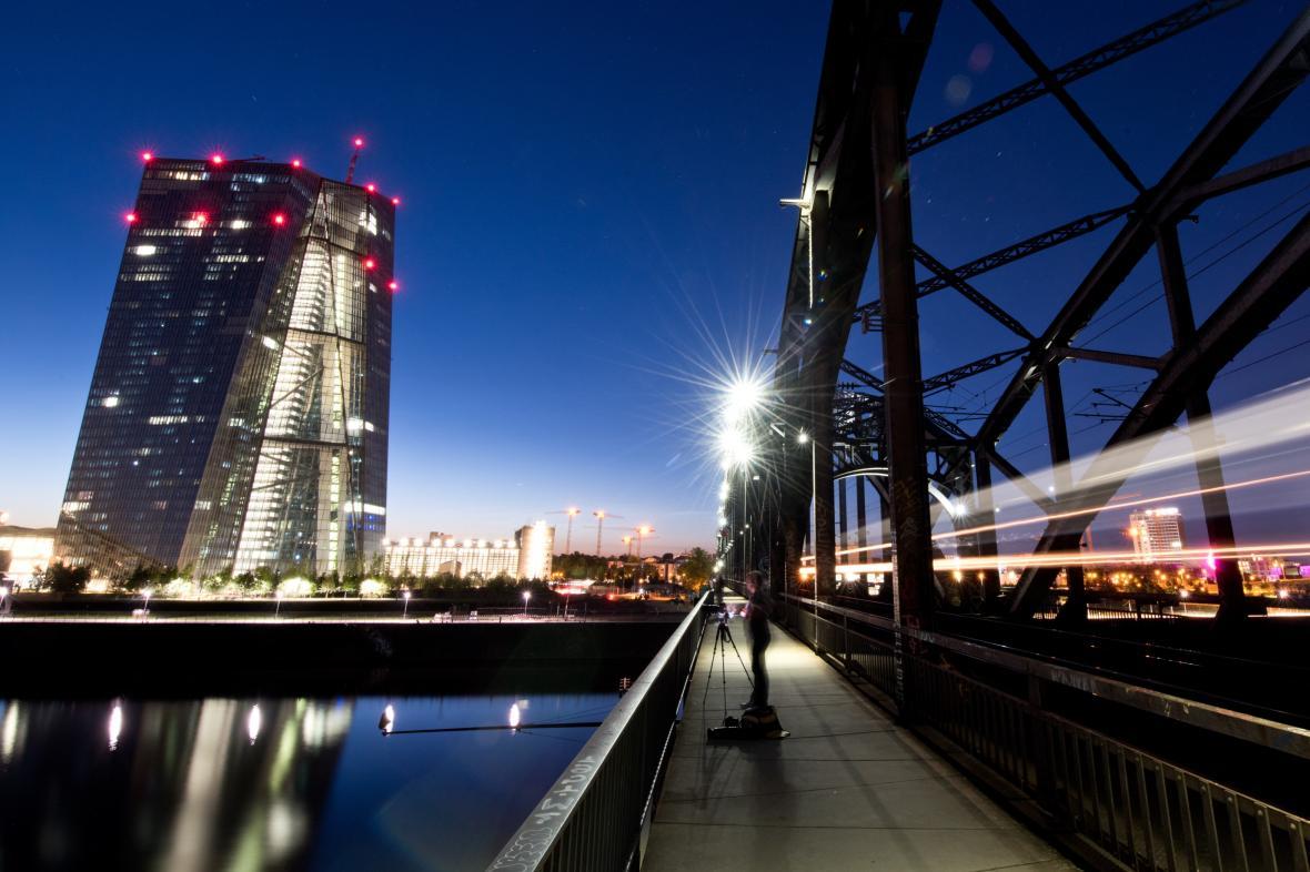 Sídlo Evropské centrální banky ve Frankfurtu nad Mohanem