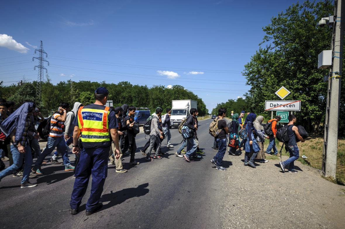 Příliv uprchlíků v Maďarsku
