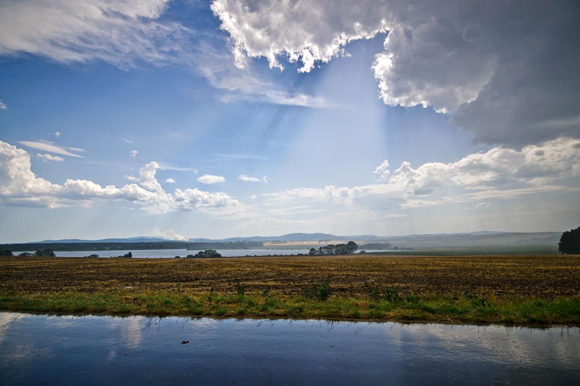 Jižní Čechy po dešťové přeháňce