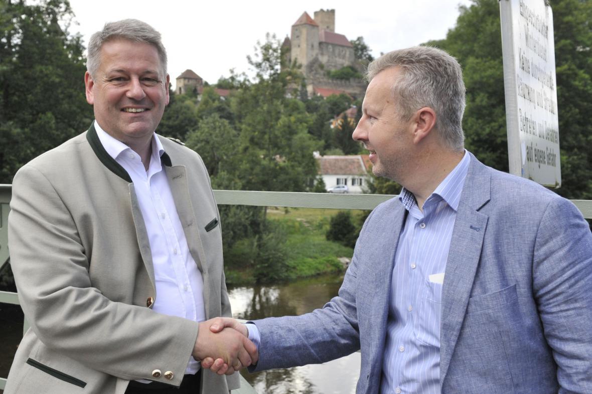 Ministři životního prostředí Rakouska a Česka