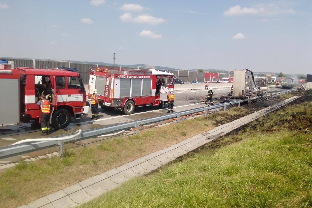 Požár na D1