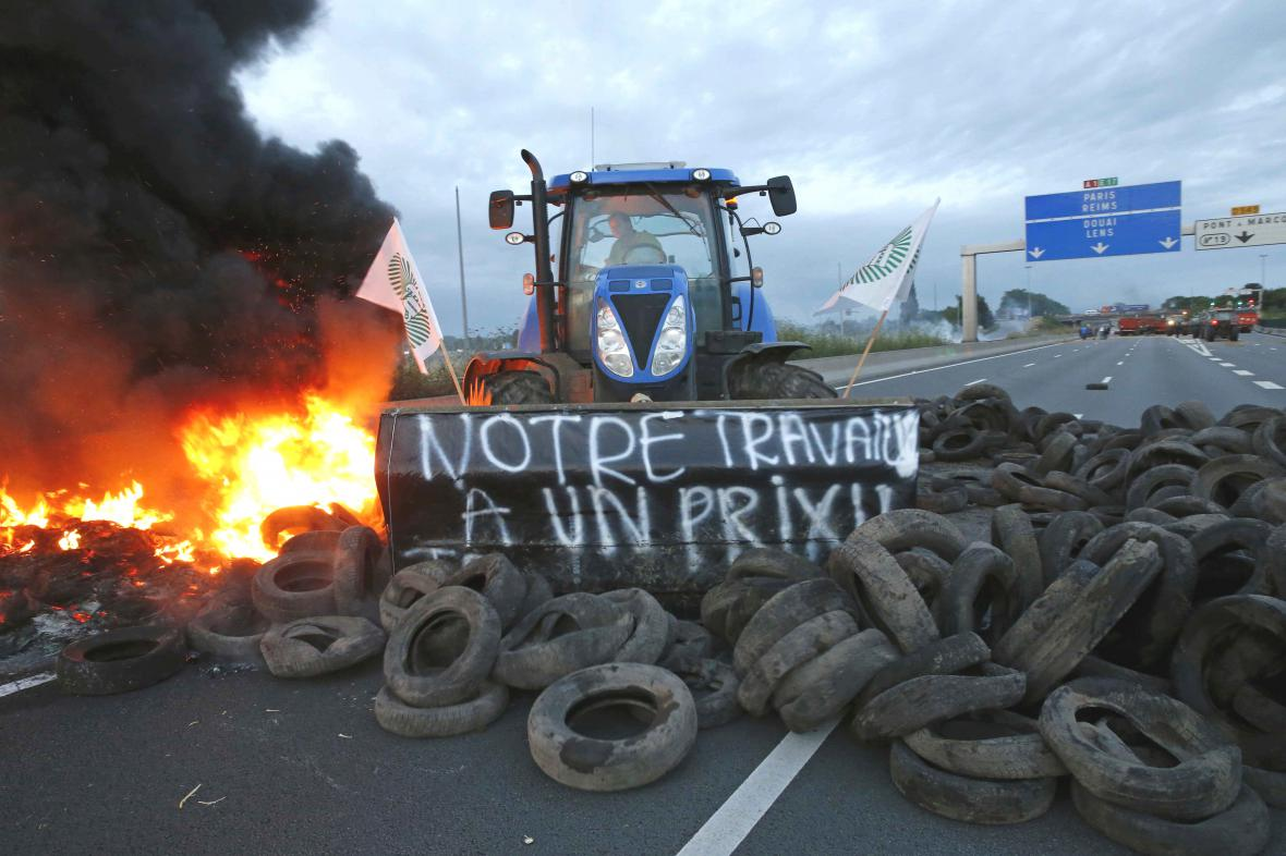 Protest francouzských farmářů