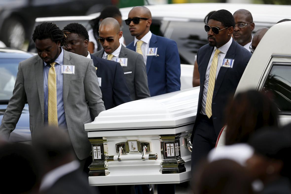 Pohřeb Sandry Blandové