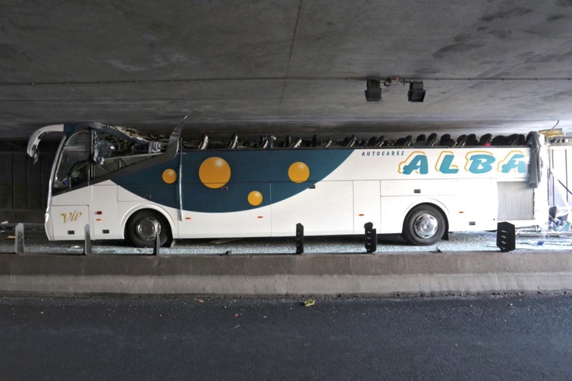 Havárie španělského autobusu v Lille