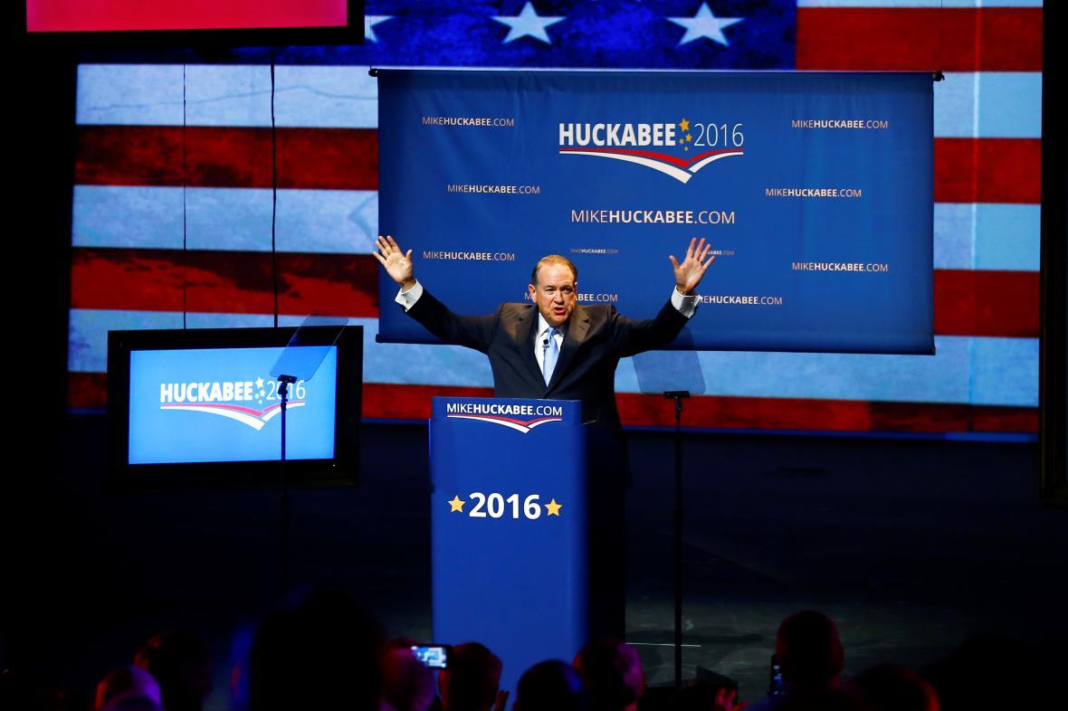 Mike Huckabee v průběhu volební kampaně