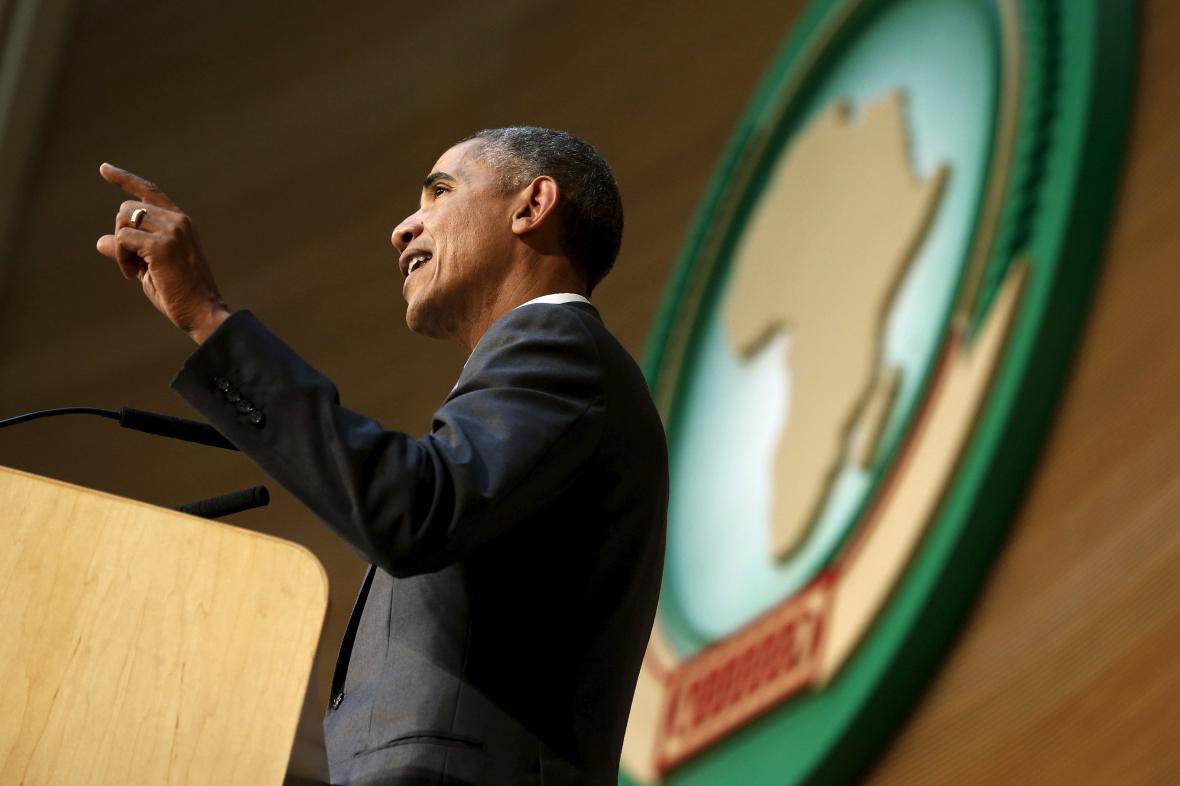 Obamův projev v sídle Africké unie