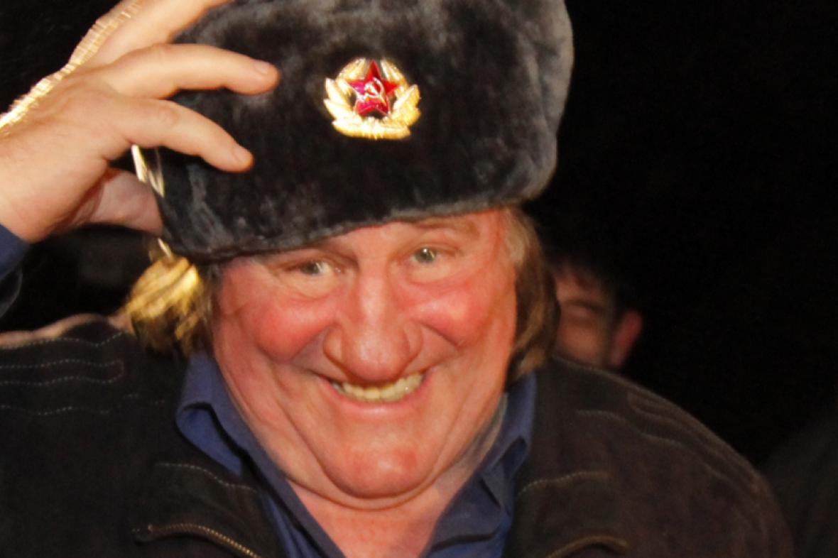 Depardieu po příletu do Grozného před dvěma lety