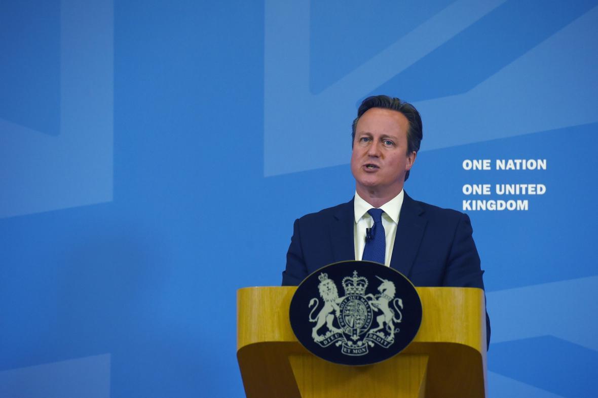 David Cameron při projevu o islámském extremismu