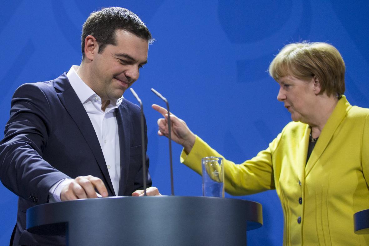 Alexis Tsipras s Angelou Merkelovou