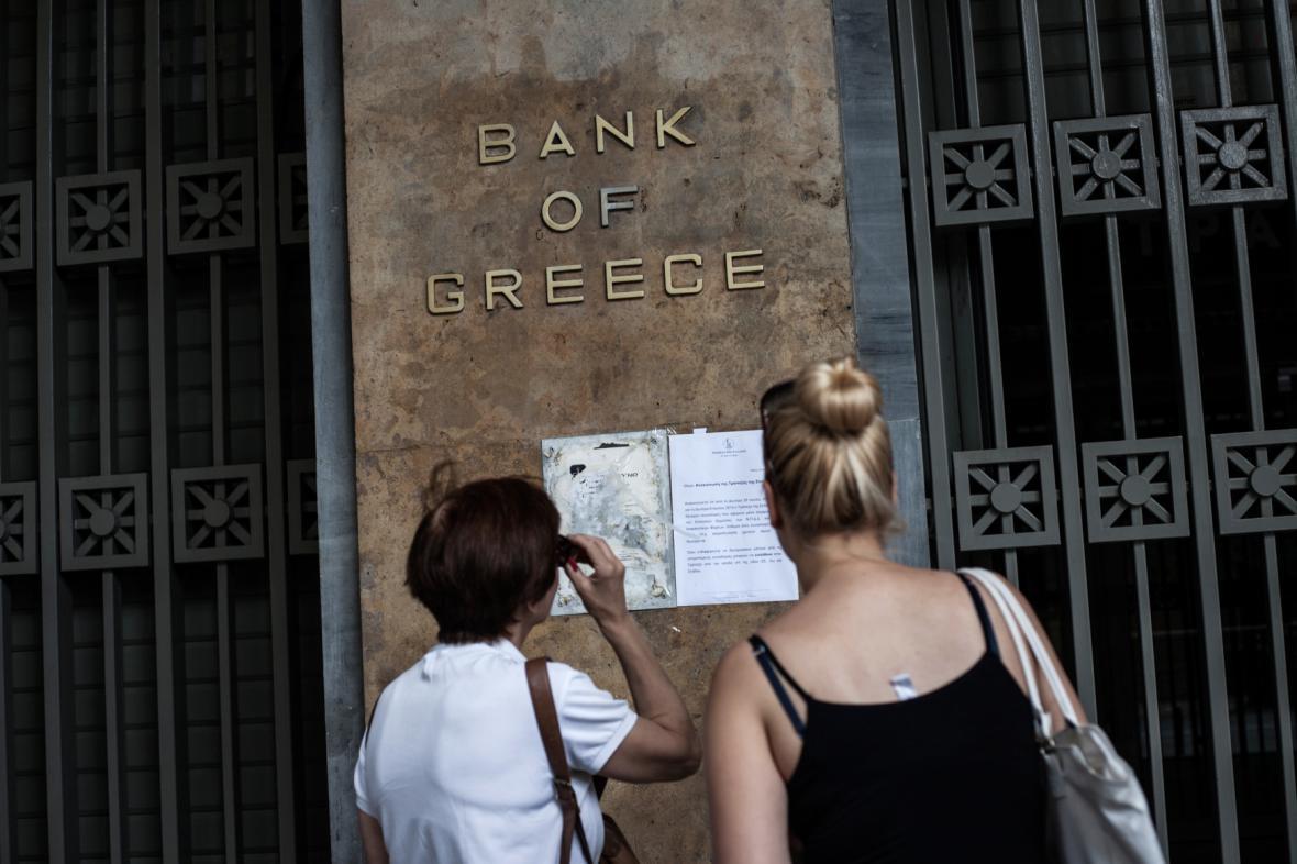 Zavřená Řecká národní banka