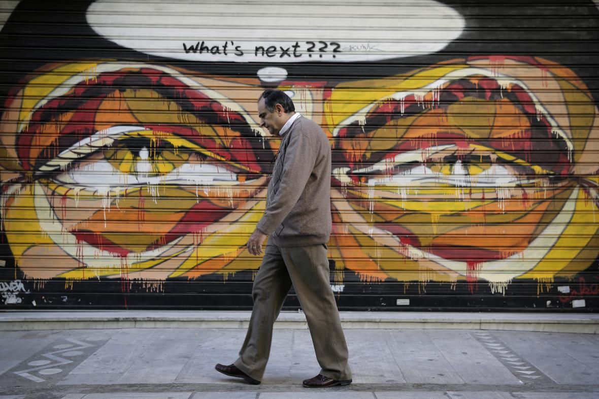 Graffiti v Aténách