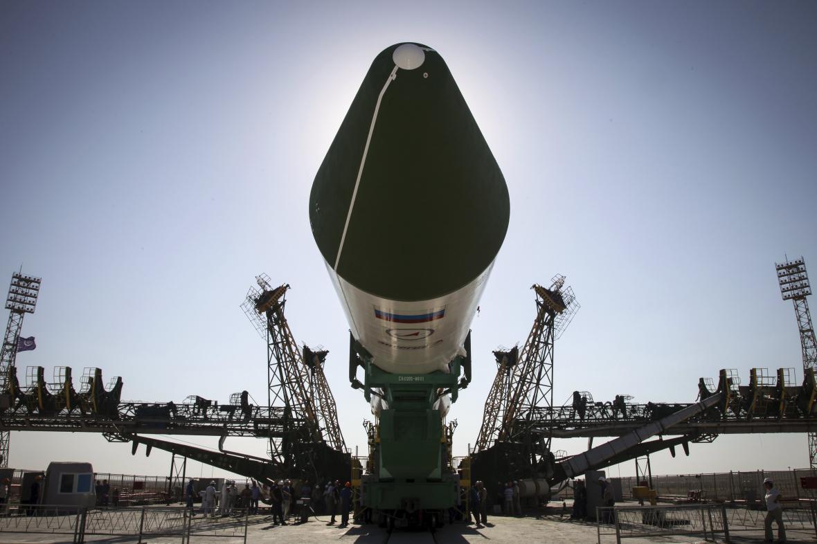Ruská kosmická loď Progress před startem