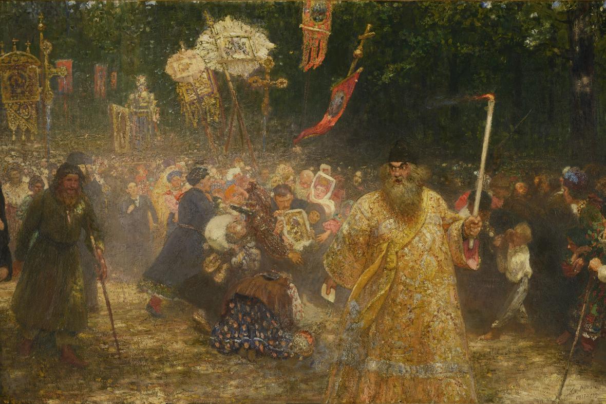 Ilja Repin / Křížové procesí v dubovém lese
