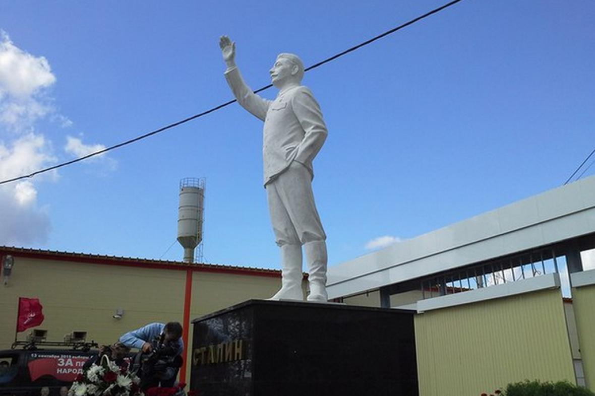 Stalinova sochal v ruské obci Šelanger