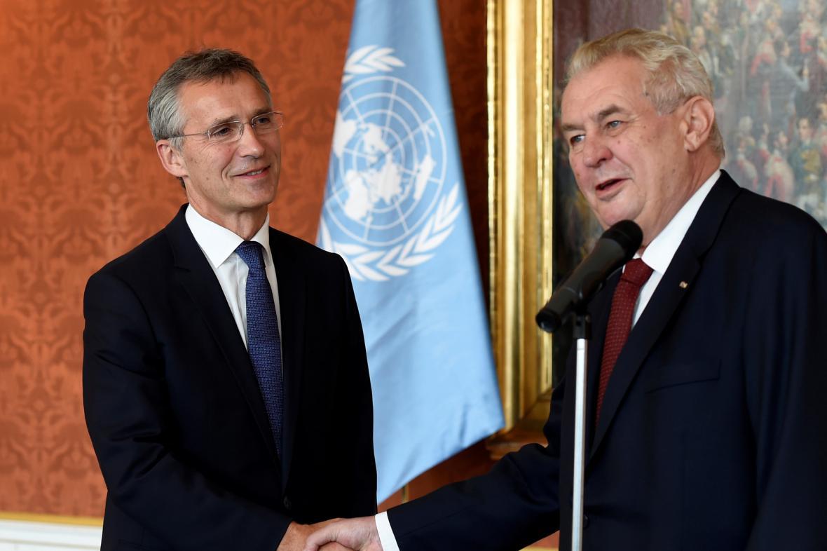 Generální tajemník NATO Jens Stoltenberg na Pražském hradě